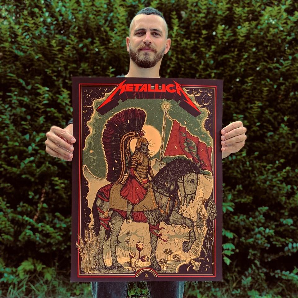 """Илюстратор от Етрополе нарисува официален плакат за """"Металика"""""""