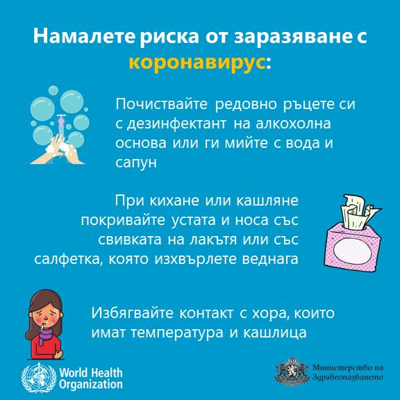 Как да предпазим себе си и околните от заразавяне с коронавирус